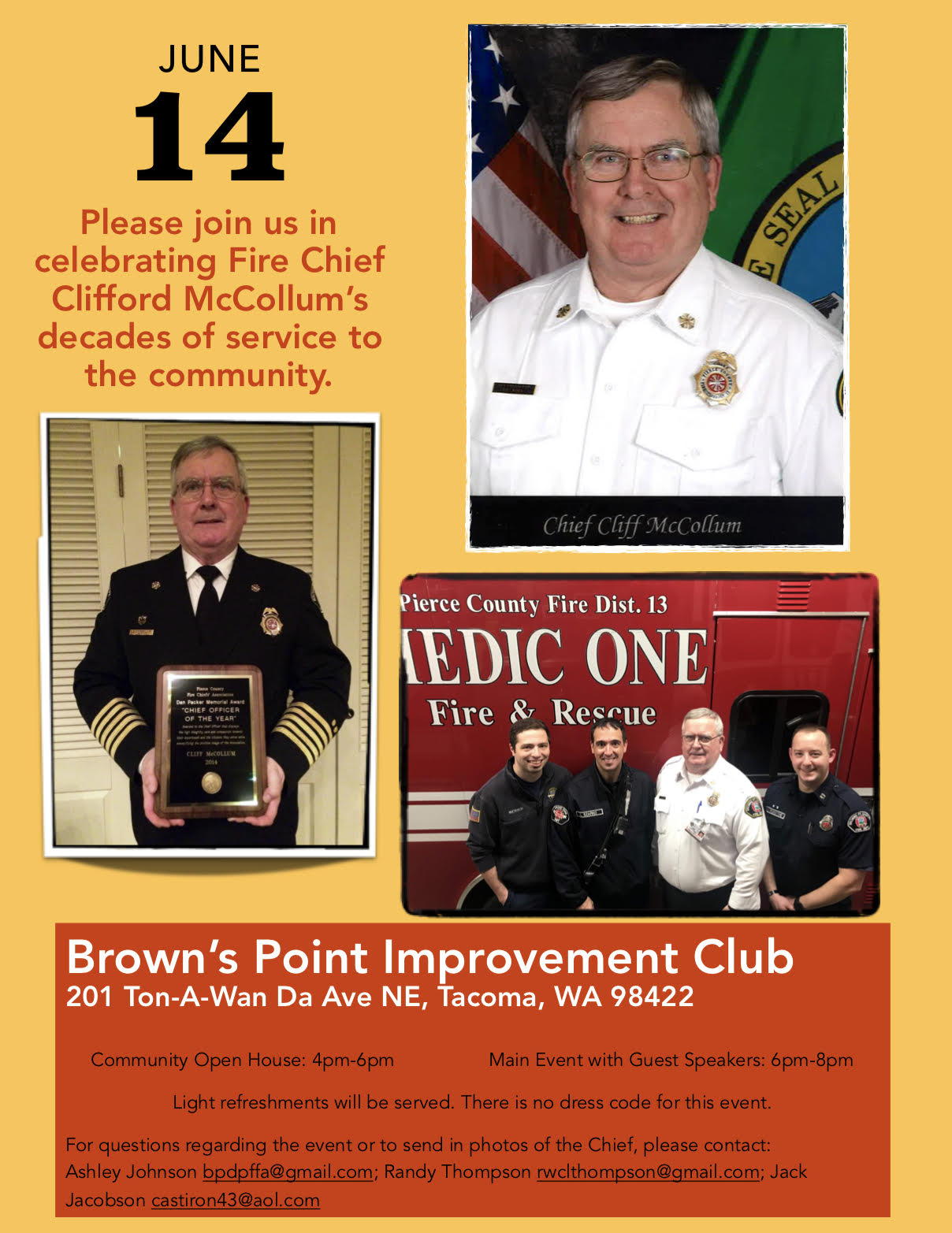 Chief Clifford McCollum Retirement Party